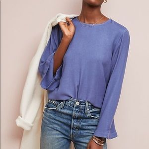 NWT Cloth & Stone Bell Sleeve Top Anthropologie